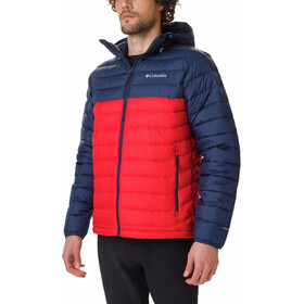 Columbia Powder Lite Hooded Jacket Herren mountain red/collegiate navy